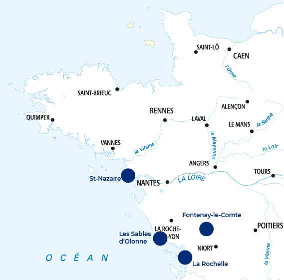 Carte - Groupe Ocea Yacht